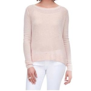 Rebecca Taylor Cashmere Back Tie Pink Sweater